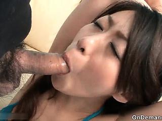 Amazing hot brunette floozy with sexy body