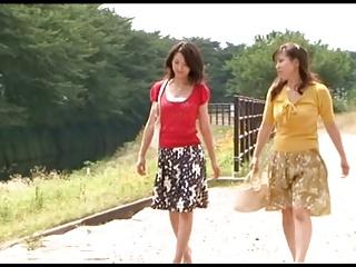 Japanese Lesbians (How she met will not hear of palpable neighbor)