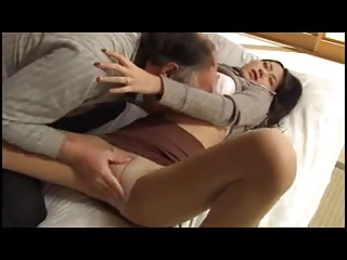 Asian girl is seduced wide of patriarch man