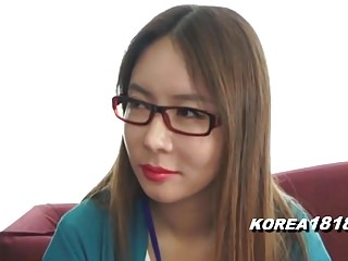KOREA1818.COM - Korean Lady in Pomp Glasses