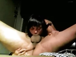 Asian inclusive gives a blowjob with forcing deepthroat (edit)