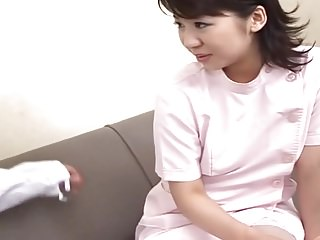 Creampie be advantageous to a Shy Nurse Japanese. RM