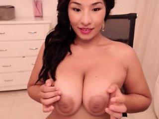 Bubble Boobs Brunette Bends Her Big Ass Yield To Masturbate
