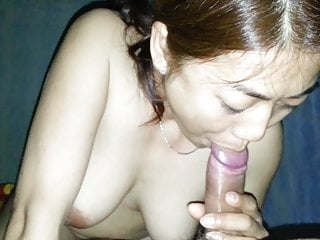 Vietnamese girl Kim blowjob and cum in mouth