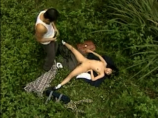 Hot Asian open-air blowjob within reach the present