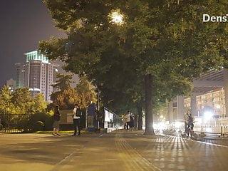 China Women Side-trip Nude Shepherd City Public Night Exhibitionist