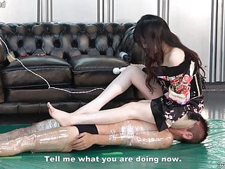 Japanese Dominatrix Rui back Kimono Facesitting