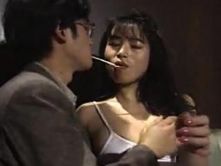 Japanese secretary handjob footjob in pantyhose Uncensored