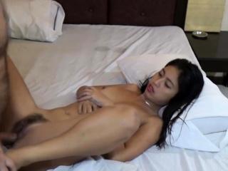 Horny Asian Teen sucks tourist's Cock