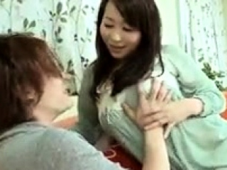 Asian old bag enjoys a messy blowjob increased by creampie