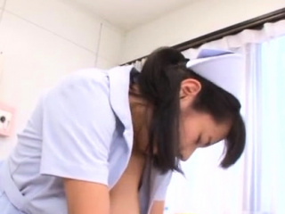 Hot nurse prow booty for ramrod in japanese porn video