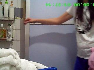 Asian MILF shower hidden camera (2)