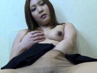 Skinny asian fingerfucks her Victorian pussy