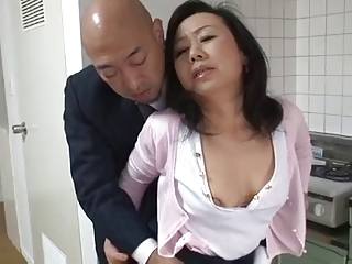 Mature Japanese mother Desires son's friend Cock (Censored)