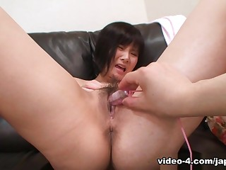 Japanese Teen Gets Toys And Cock Relative to Hairy Pussy - JapanLust