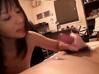 Asian mom doing her son as birthday gift