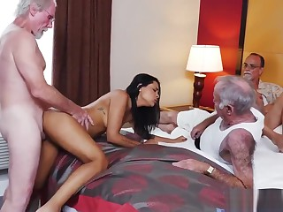 Young old wed coppers and chunky horny old daddy and old grope and old mature