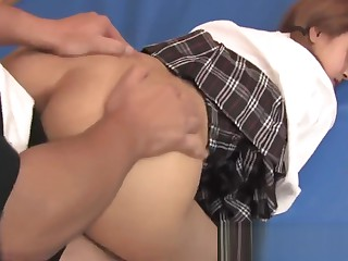 Schoolgirl gets her pussy pounded by jocks upon be transferred to gym