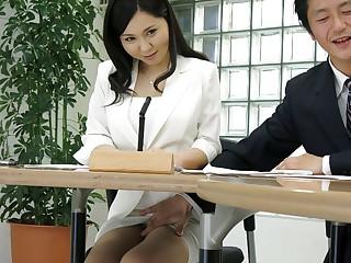 Miyuki Ojima in all directions Hot news announcer Miyuki Ojima sucks cock during a difficulty news - JapanHDV