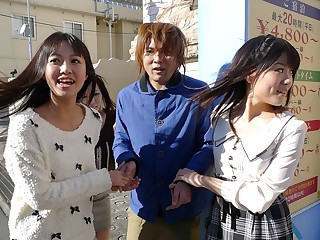 Asakura Kotomi & Chise Aoba & Tsubaki Housho in Cock hunters Kotomi Asakura, Tsubaki Housho, Chise Aoba visiting a pill popper - JapanHDV