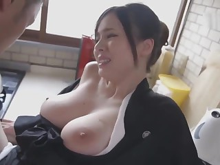 Aimi Yoshikawa HBAD-392 Beamy Tits Widow Meagre To The Neck And Silent Ascen