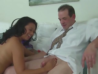 Asian Of age Masseuse Cock Treatment