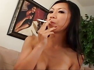 Sexy Asian Smoking Blowjob