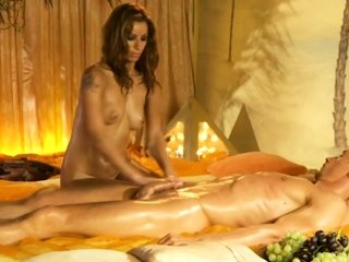 She Massage sHis Cock To Salubriousness