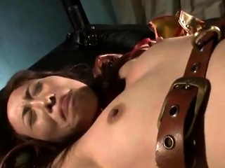 Predestined up charm bondage bdsm sub caned in bdsm prison
