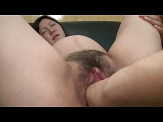 Woman with vibrator in ass