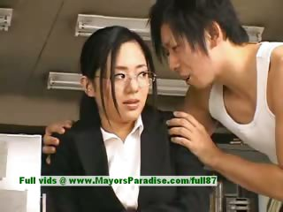 Sora Aoi innocent naughty asian secretary enjoys getting fucked at break time eon