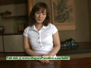 Nao Ayukawa innocent cute asian girl likes fucking hither the kitchen